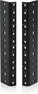 Gator Rackworks Heavy Duty Steel Rack Rail Set; 4U Rack Size (GRW-RACKRAIL-04U)