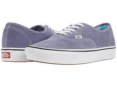Vans ComfyCush Authentic ((Suede) Granite Blue) Athletic Shoes