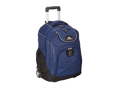 High Sierra Powerglide Wheeled Backpack (True Navy/Black) Backpack Bags