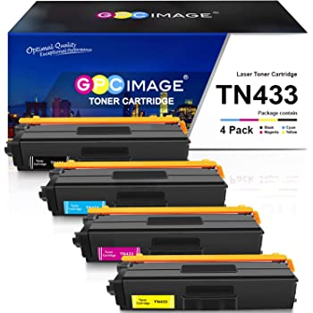 KCMYTONER Compatible Toner Cartridge Replacement for Brother TN433Y TN-433YL TN433 TN-433 Work with MFC-L8900CDW HL-L8360CDWT MFCL8610CDW MFCL9570CDW Color Laser Printer Yellow 1 Pack