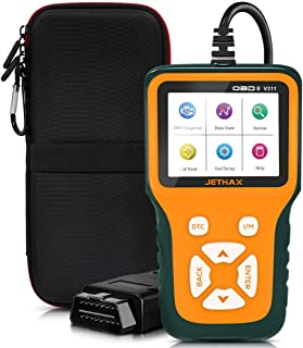 JETHAX Handheld OBD2 Scanner, Car Fault Code Reader Diagnostic Scan Tool Compatible with All Vehicles 1996 and Newer, Check I/M Readiness, 02 Sensor, EVAP Systems
