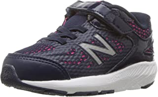 New Balance Unisex-Baby KV519 Shoes, 4 W US Big Kid, Pigment/Pink Glo
