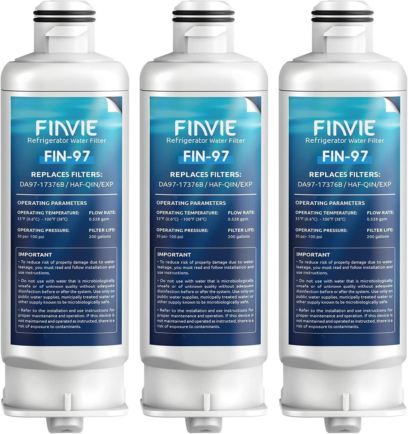 FINVIE DA97-17376B Refrigerator Water Sam for Replacement free Filter Genuine