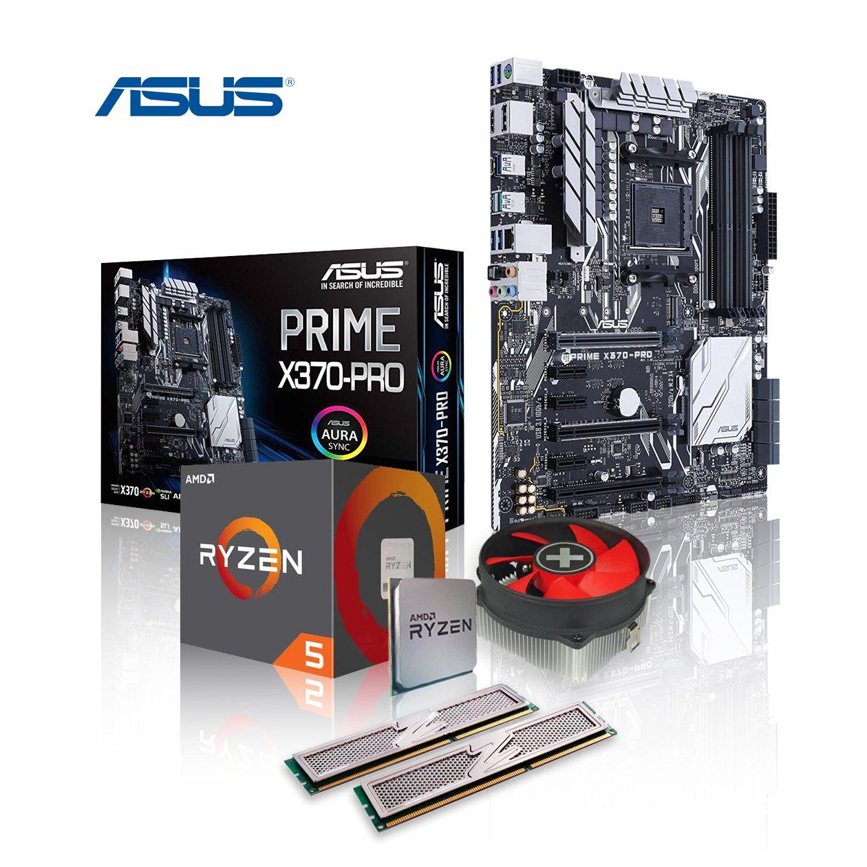 Memory PC – Pack de actualización de ordenador de sobremesa, AMD Ryzen 5 1600X AM4 (SixCore) Summit