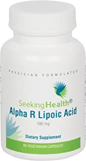 Alpha R Lipoic Acid | Provides 100 Mg of Natural Alpha R-Lipoic Acid | 60 Easy-to-Swallow Vegetarian Capsules | Seeking He...