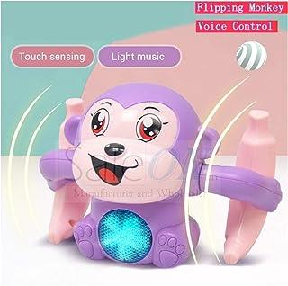 SaleOn Electric Monkey Toys Voice-Activated Induction Cartoon Tumbling Banana Monkey with Light Music Children Animal Mode...