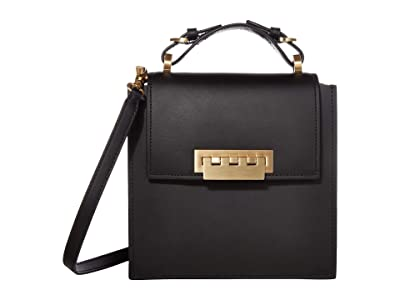 ZAC Zac Posen Earthette North/South Top-Handle Solid (Black) Handbags