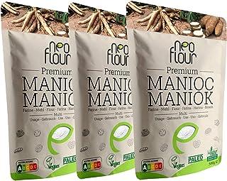 1.5Kg Premium Maniokmehl / Glutenfreies / 100% natürliches / Paleo / Vegan / ohne Konservierungsstoffe / ohne Zusatzstoffe / für beim Kochen und Backen / verpackt in glutenfreier Umgebung