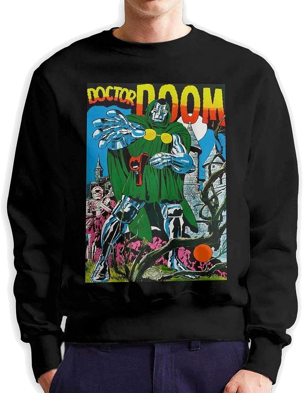Mf Doom Men'S Long Sleeve Printed Sports Shirt Cotton Black