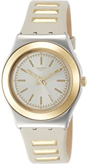 SWATCH Lady's Golden Steps Steel Quartz Wrist Watch YLS195