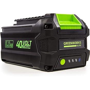 Greenworks L-600 40V 6AH Smart Lithium-Ion USB Battery, 6.0 Ah