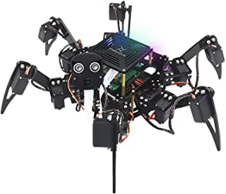 Freenove Big Hexapod Robot Kit for Raspberry Pi 4 B 3 B+ B A+, Walking, Self Balancing, Live Video, Face Recognition, Pan ...