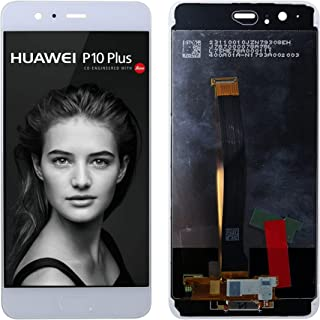 SwarKing Replacement Compatible with Huawei P10 Plus (White with Frame) LCD Display Touch Screen Digitizer Assembly with R...