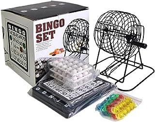 コンパクト ビンゴ ゲーム セット ビンゴマシーン ポータブル ゲーム機 ナンバー入りボール・ビンゴカード 付き ミニ 抽選 (ブラック・予備カード付属)