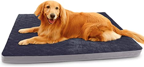 Large Dog Bed Pet Beds Crate Mat Orthopedic Foam Dog Mats for Sleeping Washable Anti Slip Mattress with Removeble Cover