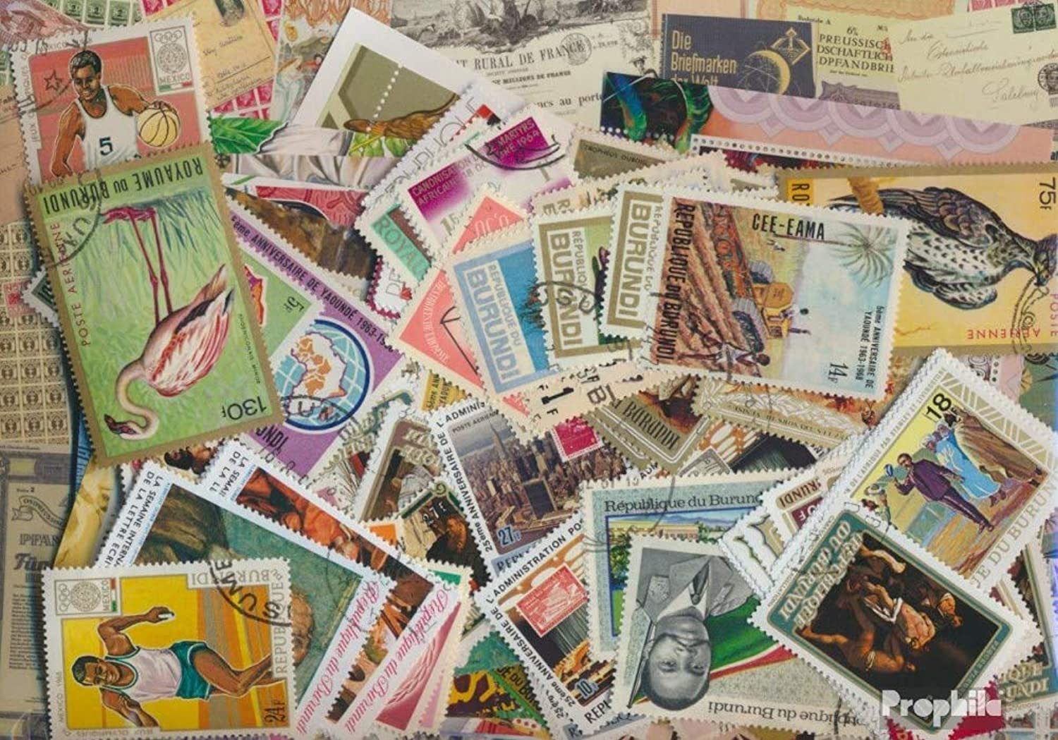 Burundi 500 different stamps (Stamps for collectors)