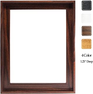 8x10 Inches Floater Frame for 1.25 Thick Canvas, Available in 25+ Size and 4 Color, Perfect Floating Frame for Finished Canvas Artist Panel Oil Painting Wall Art Décor, Dark Brown
