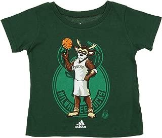 NBA Toddler's Milwaukee Bucks Tonal Mascot Short Sleeve Tee -TMC Green