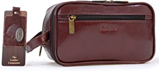 Ashwood Men's Wash Bag/Shaving Bag/Travel Toiletry Bag - Genuine Leather - Chelsea 2080 - Cognac Brown