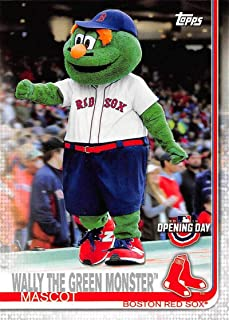 2019 Topps Opening Day Mascots #M-15 Wally the Green Monster Boston Red Sox MLB Baseball Trading Card