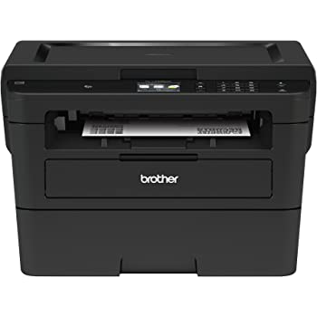 Brother Compact Monochrome Laser Printer, HLL2395DW, Flatbed Copy & Scan, Wireless Printing, NFC, Cloud-Based Printing & Scanning, Amazon Dash Replenishment Ready - BLACK