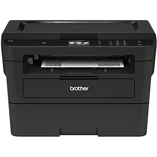 fe0dddc3 Brother Compact Monochrome Laser Printer, HLL2395DW, Flatbed Copy & Scan,  Wireless Printing,
