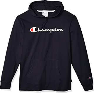 Champion Men's Middleweight Jersey Hoodie, Script Logo