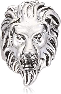 head shaped lion ring