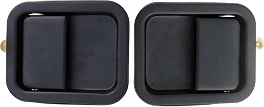 APDTY 139953 Exterior Door Handle Left & Right Pair Fits 1976-1986 Jeep CJ 1987-2006 Jeep Wrangler (Black Steel For Full Size Doors; 1 Left & 1 Right Door Handle Included)