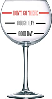 Circleware 77102 Vino Grande Oversized Wine Glass with Fun Saying, 1 Piece, Party Entertainment Beverage Drinking Glassware for Water, Beer, Liquor, Whiskey and Decor Gifts, 28.9 oz, Don't Go there