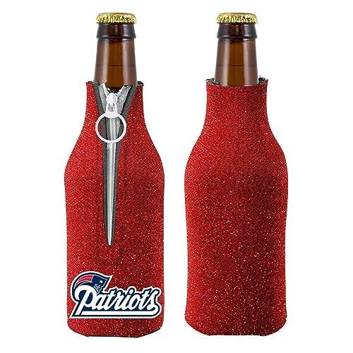 NFL Football Team Logo Womens Ladies Glitter Beer Bottle Holder Cooler f8f44449db