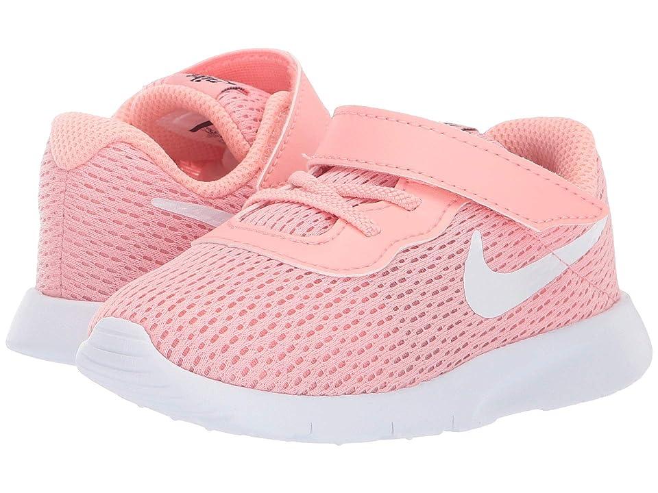 Nike Kids Tanjun (Infant/Toddler) (Bleached Coral/White/Black) Girls Shoes