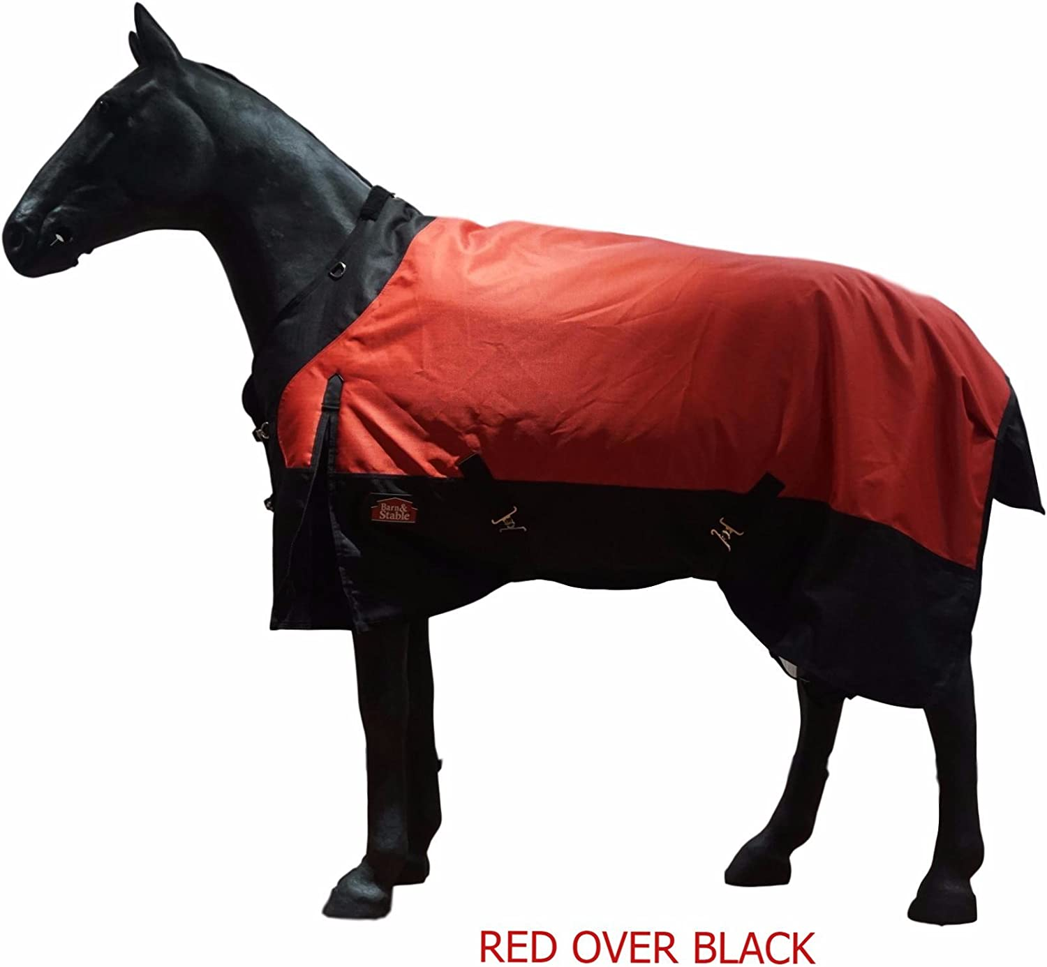 Barn&Stable Horse Blanket Turnout Blanket 1200D Ripstop, 210D Lining and 200grm Fill