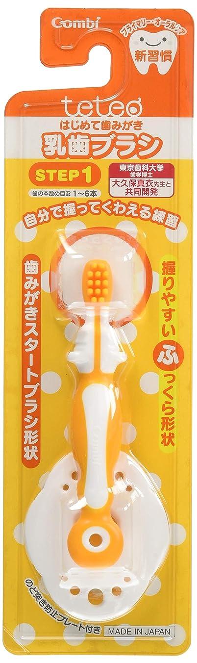 パール概して気質【日本製】コンビ Combi テテオ teteo はじめて歯みがき 乳歯ブラシ STEP1 (歯の本数の目安:1~6本) 最初の歯が生えはじめたら