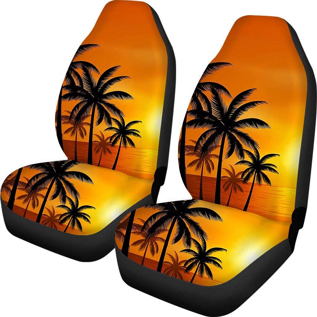 Wanyint Beautiful Golden Sunset Tropical Max 68% OFF Beach Trees Univer Palm Soldering