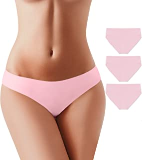 BUBBLELIME Seamless Bikini Panties for Women Low Rise Power Breathable Underwear No Show(6 Pack&3 Pack&1 Pack)