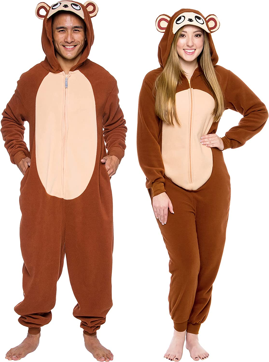 Silver Lilly Slim Fit Animal Pajamas - Adult One Piece Cosplay Monkey Costume
