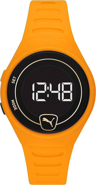 PUMA Reloj digital unisex con correa de poliuretano P5045