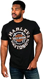 Mens Crossed Up Trademark B&S Black Short Sleeve T-Shirt