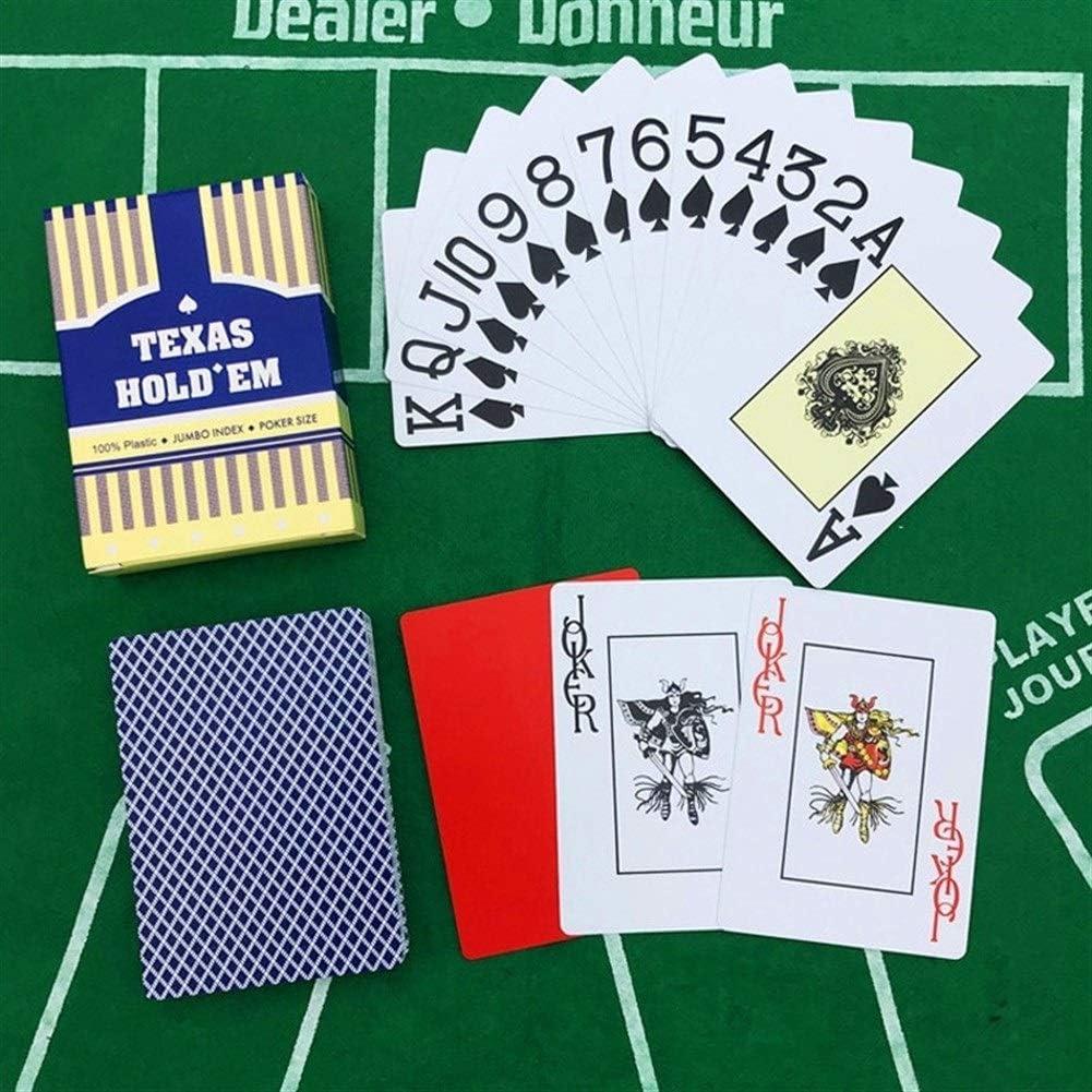 TX GIRL 10 Sets Waterproof Speelkaarten Casino Speelkaarten Baccarat Texas Hold'em Plastic Slijtvast Poker Cards Board Games 63 Mm X 88 Mm (Color : 5Red5Blue) 10Red