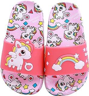 HausFine Enfants Chaussons Licorne Pantoufles de Bain Plates Chaussures de Piscine et de Plage Antidérapant Tongs de bain ...