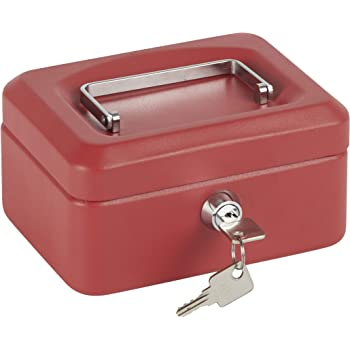 Arregui 1832D39 Caja de Caudales con Bandeja, Rojo, 152 x 80 x 118 mm: Amazon.es: Bricolaje y herramientas