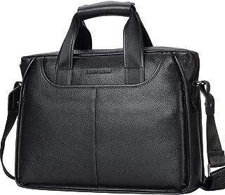 DENIM Men Classic Leather Maletín Laptop Shoulder Bag Messenger Business Tote