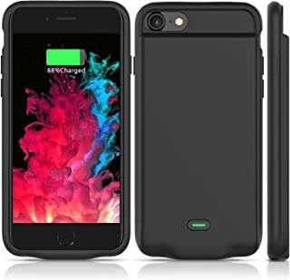 Battery Case for iPhone 7/8,2800mAh Portable Protective Charging Case Extended Rechargeable Case with Battery Pack Slim Lightweight Durable Charger Case Compatible with iPhone 7/8 (4.7 inch)-Black