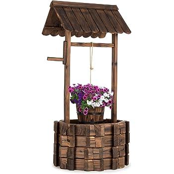 Pozo Decorativo de Madera para jardín: Amazon.es: Jardín