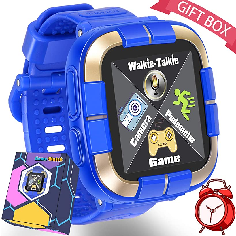 Kids Game Smart Watch for Ages 3-12 Girls Boys Toddlers with Voice Chat 12 Puzzle Games Fitness Tracker Camera Alarm Flashlight Digital School Learning Gizmo Wristwatch Electronic Toys Birthday Gifts