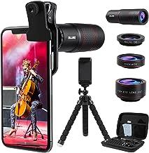 DELLURGO Phone Camera Lens 20x Telephoto Lens 205°...
