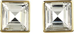Cocktail Party Crystal Square Stud Earrings