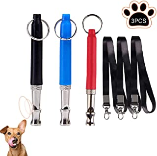 Silbato de Perro,3 Piezas Silbato de Entrenamiento de Perros,Silbato ultrasónico,silbatos para perros profesionales,para Entrenamiento de Perros y Control de descortezos