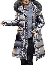 Donsjas voor dames, lange winterjas, donsjas met bont, warme winterparka, dikke gewatteerde jas, casual winterjas, outdoor...